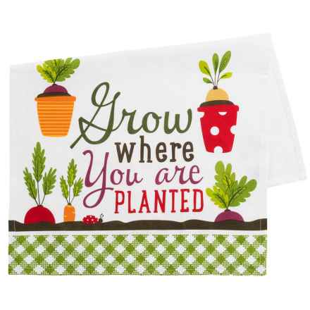 DII Printed Grow Dish Towel - Cotton in Green - Closeouts