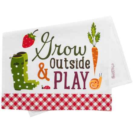 DII Printed Grow Dish Towel - Cotton in Red - Closeouts