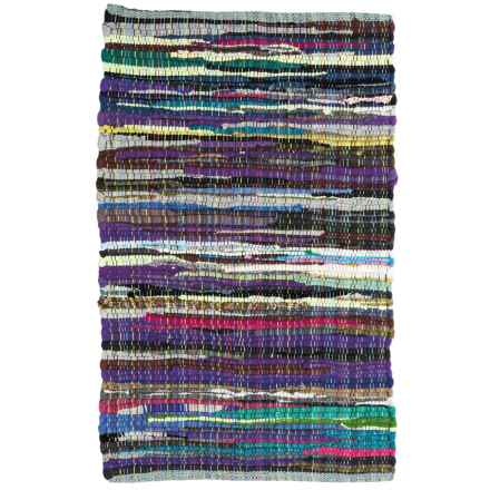 "DII Rag Rug - 20x31-1/2"", Cotton in Multi - Closeouts"