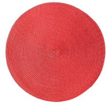 "DII Round Indoor/Outdoor Place Mat - 15"" in Red - Closeouts"