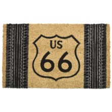 "DII Route 66 Coir Door Mat - 18x30"" in Route 66 - Closeouts"
