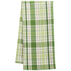 DII Shamrock Plaid Dish Towel in Shamrock Plaid