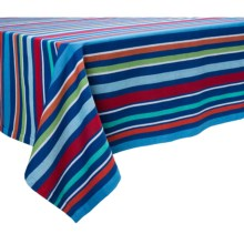 "DII Summer Fun Stripe Tablecloth - 60x84"" in Summer Stripe - Closeouts"