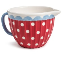 DII Sweet Dots Stoneware Batter Bowl in Red Polka Dot - Closeouts