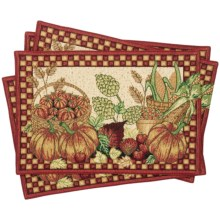 DII Tapestry Placemats - Set of 4 in Bountiful Harvest - Closeouts