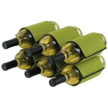 DII Two-Tone Wine Bottle Rack - Felt in Green - Closeouts