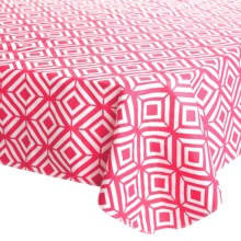 "DII Vinyl Tablecloth - 52x70"" in Raspberry Sorbet - Closeouts"