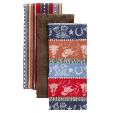 "DII Western Cotton Dish Towels - Set of 3, 18x28"" in Western - Closeouts"