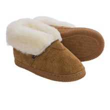 Dije California Bootie Slippers - Sheepskin Lined (For Little Kids) in Chestnut - Closeouts