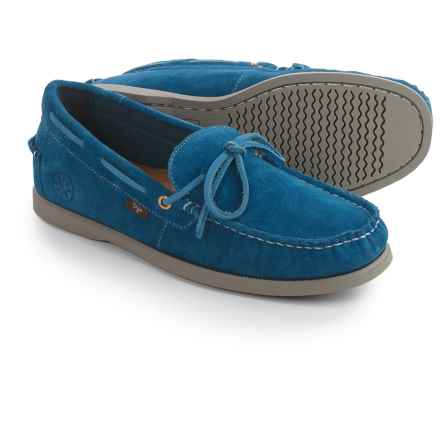 Dije California Ellis Moc Boat Shoes - Suede, Slip-Ons (For Men) in Blue - Closeouts