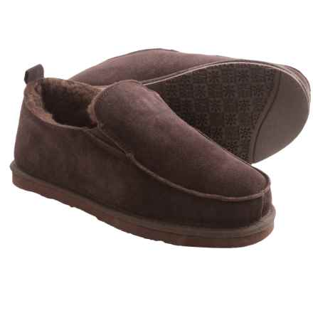 Dije California Footwear Piru Sheepskin Slippers - Moc Toe  (For Men) in Chocolate - Closeouts