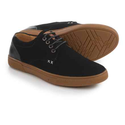 Dije California Lone Star Shoes - Suede, Lace-Ups (For Men) in Black - Closeouts