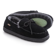 Dije California Moccasins - Suede, Sheepskin Lined (For Men) in Black - Closeouts