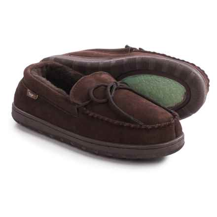 Dije California Moccasins - Suede, Sheepskin Lined (For Men) in Chocolate - Closeouts