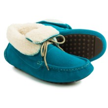 Dije California Pixie Moccasins - Suede (For Women) in Turquoise - Closeouts
