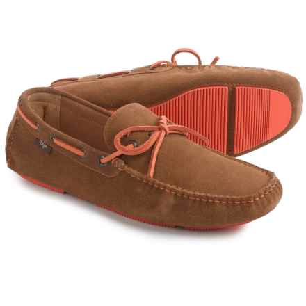 Dije California Seville Driving Moccasins - Suede (For Men) in Chestnut - Closeouts