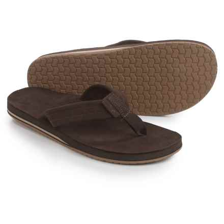 Dije California Sunset Flip-Flops - Nubuck (For Men) in Chocolate - Closeouts