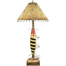 Dimond Fishing Lure Table Lamp in Distress/Red, Beige, Black - Overstock