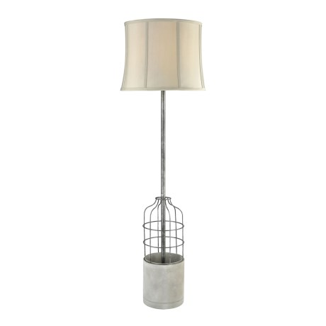 Dimond Home Rochefort Polished Concrete and Oil Rubbed Metal Floor Lamp with Shade in Bronze/Sandstone