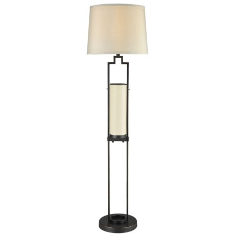 Dimond Home San Rafael Floor Lamp with Shade in Bronze/Sandstone