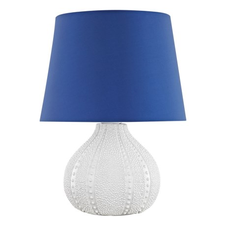 Dimond Lighiting Aruba Outdoor Table Lamp in White/Royal Blue