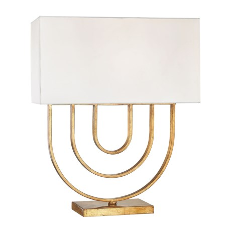 Dimond Lighiting Munich Table Lamp with Shade in Gold Leaf/White