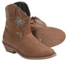 Dingo Adorable Butterfly Western Boots (For Kid Girls) in Rust - Closeouts