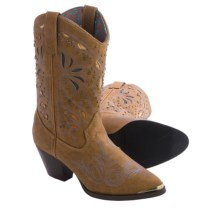 "Dingo Annabelle Cowboy Boots - 10"", Fashion Toe (For Women) in Dark Tan - Closeouts"