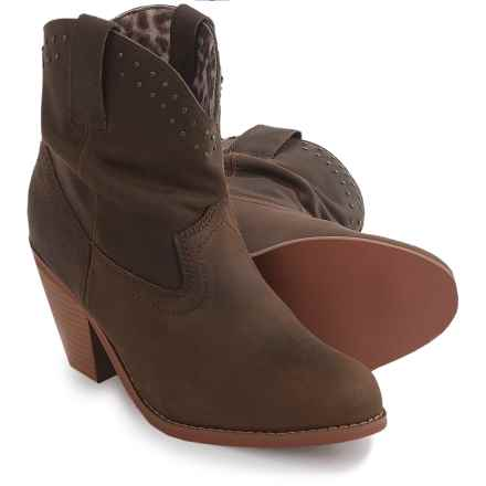 Dingo Lou Lou Boots - Leather, Round Toe (For Women) in Brown - Closeouts