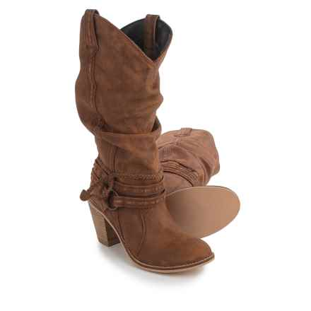 Dingo Morgan Slouch Cowboy Boots (For Women) in Tan - Closeouts