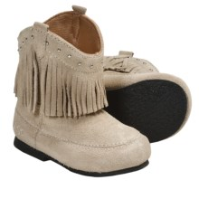 Dingo Suede Fringe Ankle Boots (For Little Girls) in Off White - Closeouts