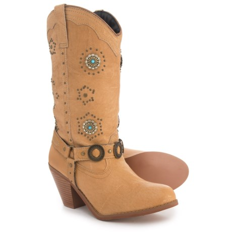 Dingo Western Harness Boots - Leather (For Women) in Chestnut Pig