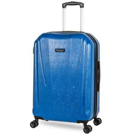 """Discovery Adventures 24"""" Canyon Collection EXP Hardside Twister Spinner Suitcase in Blue - Overstock"""