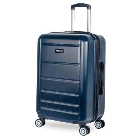 """Discovery Adventures 24"""" Sahara Collection EXP Twister Spinner Suitcase in Steel Blue - Overstock"""