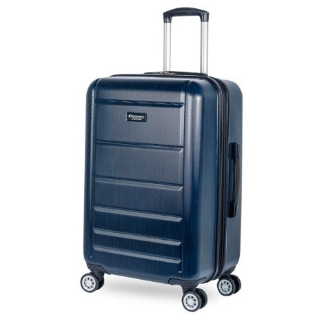 """Discovery Adventures 24"""" Sahara Collection EXP Twister Spinner Suitcase in Steel Blue"""