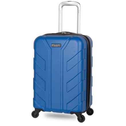 """Discovery Adventures 24"""" Tahoe Collection EXP Hardside Twister Spinner Suitcase in Blue - Overstock"""