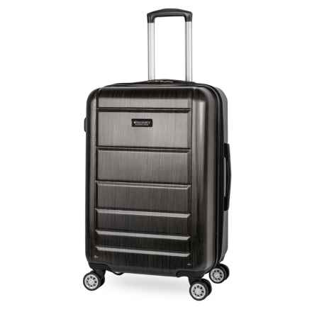 "Discovery Adventures 28"" Sahara Collection EXP Twister Spinner Suitcase in Charcoal - Overstock"