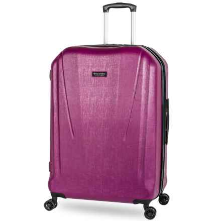 """Discovery Adventures Canyon Collection EXP Hardside Twister Spinner Suitcase - 24"""" in Purple - Overstock"""