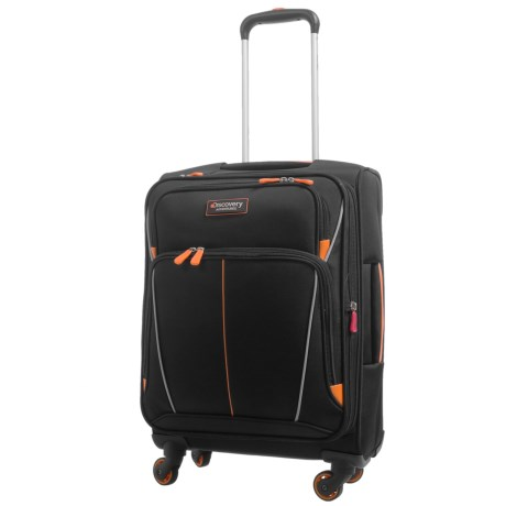"""Discovery Adventures Expedition Collection EXP Softside Twister Spinner Suitcase - 20"""" in Black"""