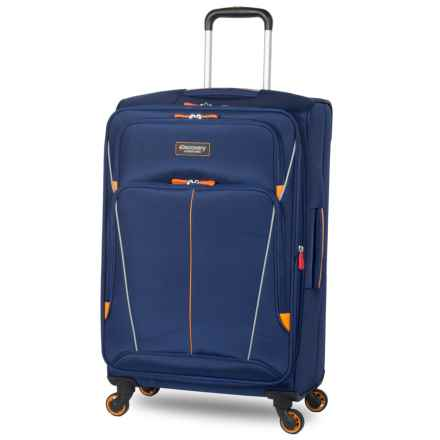 """Discovery Adventures Expedition Collection EXP Softside Twister Spinner Suitcase - 24"""" in Navy - Overstock"""