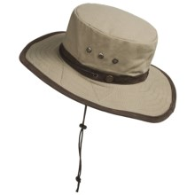 Discovery Expedition Canvas Sailing Hat - UPF 50+ (For Men and Women) in Khaki - Closeouts