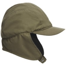 Discovery Expedition Microfiber Ear Flap Cap (For Men and Women) in Olive - Closeouts
