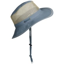 Discovery Expedition Microfiber Safari Hat - UPF 50+, Neck Shield (For Men and Women) in Blue - Closeouts