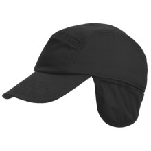 Discovery Expedition Techpore Cap - Reversible, Ear Flaps (For Men and Women) in Black - Closeouts