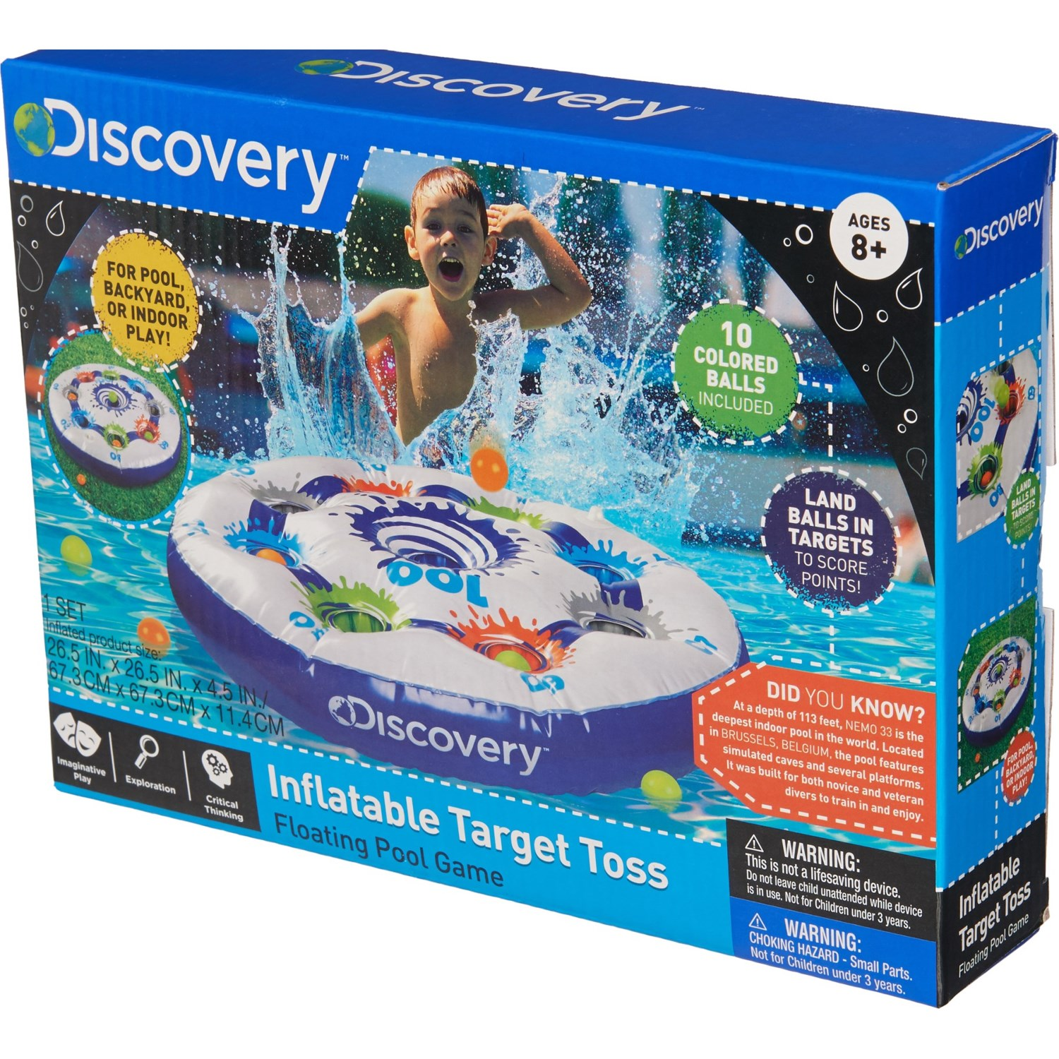 Kids Discovery Com >> Discovery Kids Inflatable Target Toss With Balls Save 64