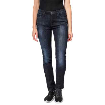 Dish dish denim Straight and Narrow Jeans - Mid Rise (For Women) in Midnight - Closeouts