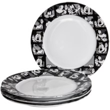 Disney Mickey Grid Porcelain Dinner Plates - Set of 4 in Mickey Grid - Overstock