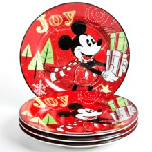 Disney Season of Wonder Dessert/Appetizer Plates - Porcelain, Set of 4 in Mickey - Overstock