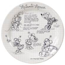 Disney Sketch Book Dinner Plate - Set of 4 in Minnie - Overstock