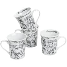 Disney Sketch Book Mugs - Set of 4 in Mickey - Overstock
